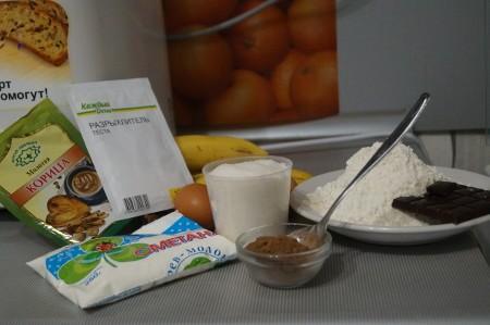 Ингредиенты для бананового кекса