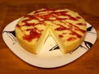 Бисквитный пирог с творожной начинкой