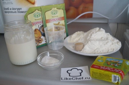 Ингредиенты для кукурузного хлеба