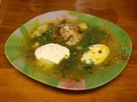 Куриный суп с шавелем