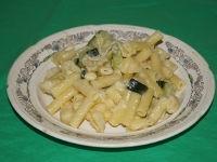 Макароны с сыром и кабачками