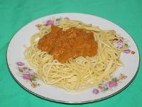 Спагетти с соусом из панцирей креветок