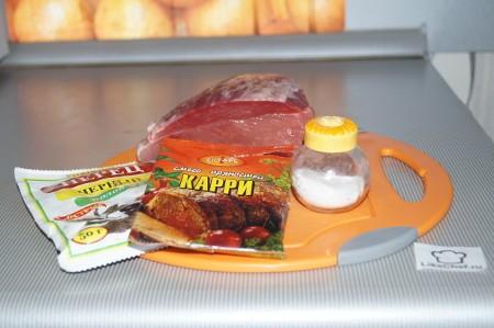 Ингредиенты для свиной отбивной