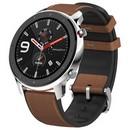 Умные часы Amazfit GTR 47мм stainless steel case, leather strap