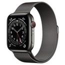 Умные часы Apple Watch Series 6 GPS + Cellular 44мм Stainless Steel Case with Milanese Loop