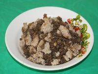 Чечевичная каша с мясом в мультиварке