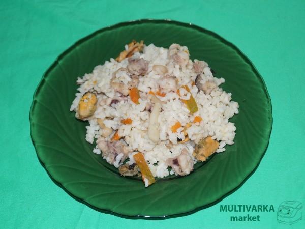 мультиварка плов с морепродуктами рецепт с фото