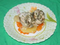 Скумбрия с картофелем в пароварке