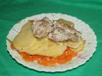 Свинина с картофелем в пароварке