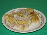 Запеканка картофельная с фаршем в мультиварце